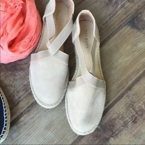 Cream Talbots Espadrilles! Used ONCE! Almost NEW!
